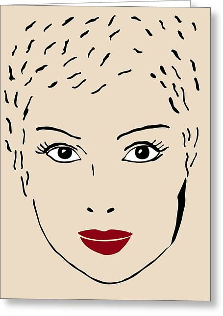 Chic Drawings Greeting Cards - A fashion model Greeting Card by Frank Tschakert