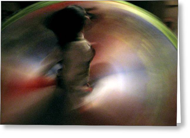Rotation Greeting Cards - A female Whirling Dervish in Capadocia Greeting Card by RicardMN Photography