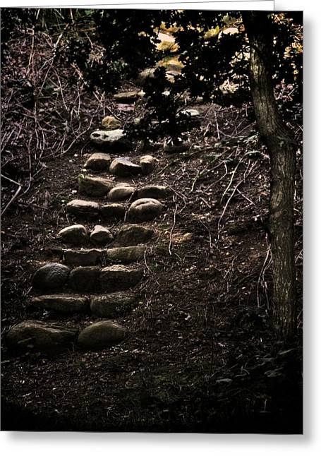 A Few More Steps Greeting Card by Odd Jeppesen