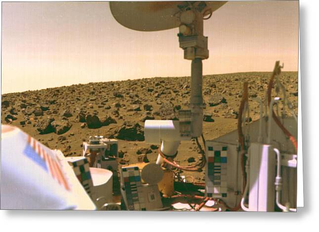 A Field Of Red Rocks Reaches Greeting Card by Nasa