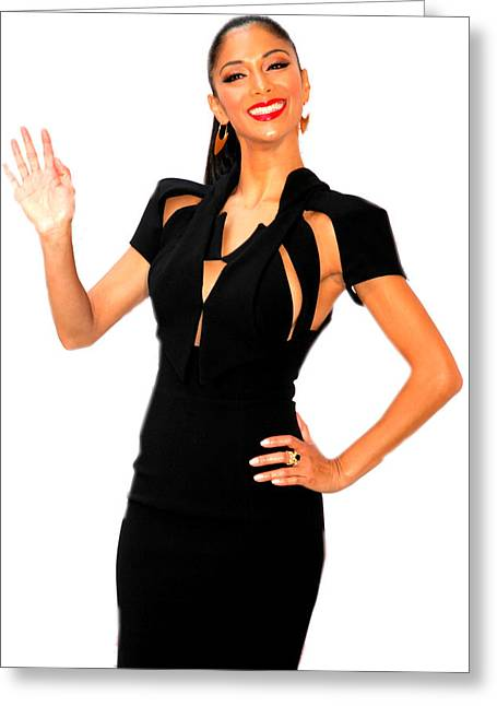 Nicole Scherzinger Greeting Cards - A Final Wave To All Greeting Card by Jez C Self