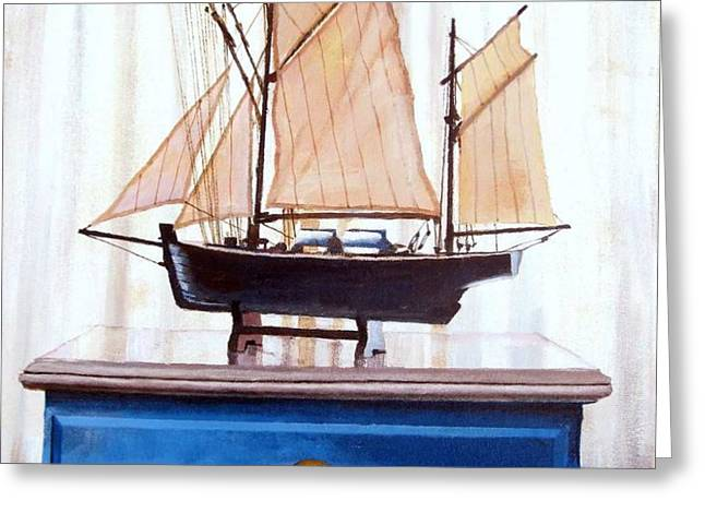 A Fishin Boat Right outside of Delacroix Greeting Card by Tim Johnson