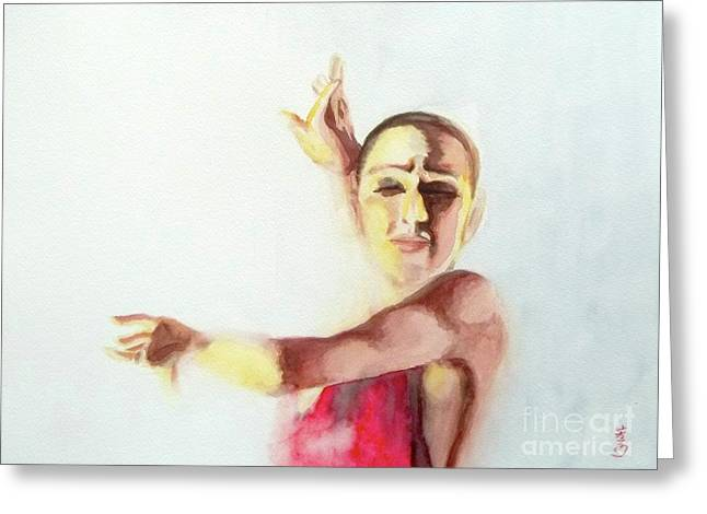 A Flamenco Dancer Greeting Card by Yoshiko Mishina