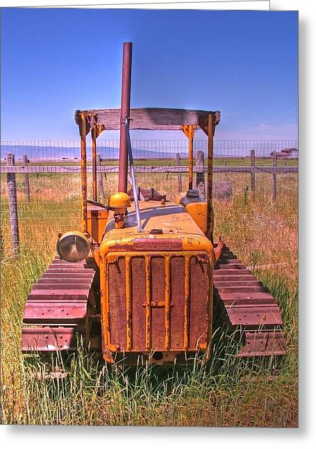 Dozer Greeting Cards - A Forgoten Dozer Greeting Card by Ken Smith