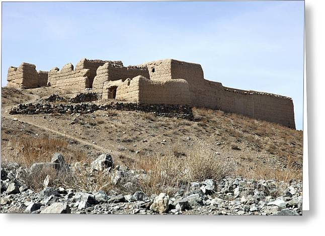 Logar Greeting Cards - A Fortified Compound In The Village Greeting Card by Stocktrek Images