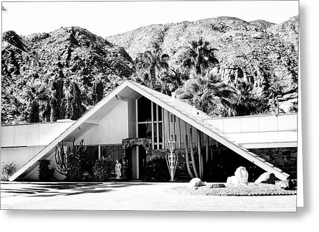 Frame House Photographs Greeting Cards - A FRAME BW Palm Springs Greeting Card by William Dey