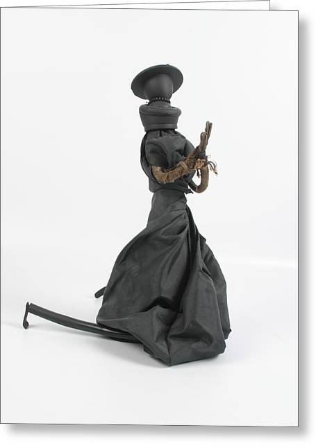 Knelt Sculptures Greeting Cards - A Frayed Nun The Less Greeting Card by Michael Jude Russo