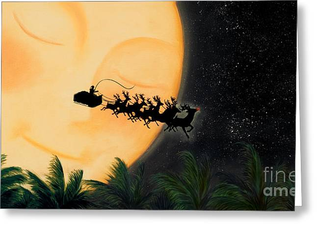 Rudolph Mixed Media Greeting Cards - A friends coming Greeting Card by Michel Le