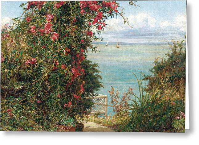 A Garden by the Sea  Greeting Card by Frank Topham
