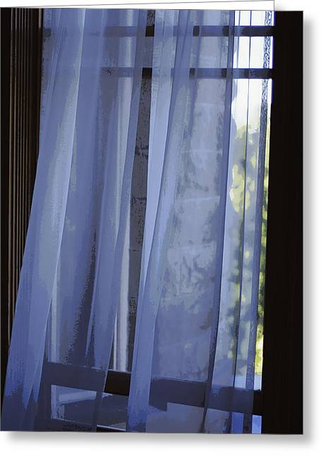 Transparent Fabric Greeting Cards - A Gentle Breeze Greeting Card by Marilyn Wilson