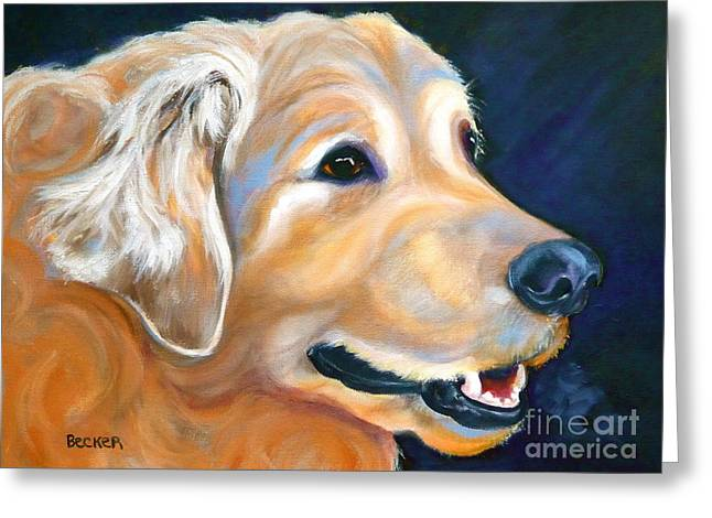 Retriever Prints Greeting Cards - A Golden Adventure Greeting Card by Susan A Becker