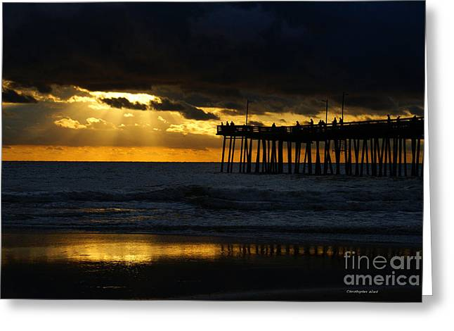 Beach Photographs Greeting Cards - A Good Morning  Greeting Card by Christopher  Ward