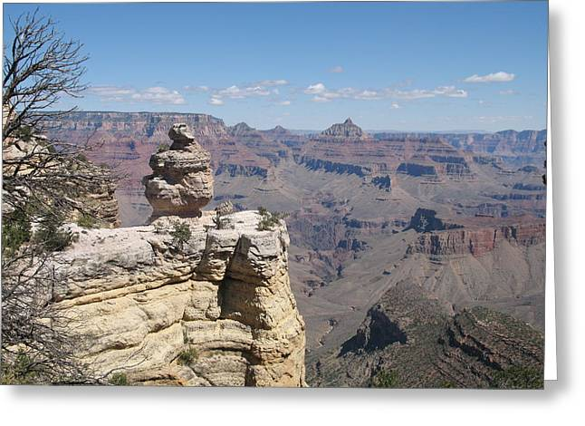 Lamdscape Greeting Cards - A Grand Canyon Viewpoint Greeting Card by Christiane Schulze Art And Photography