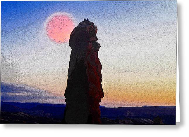 Monolith Greeting Cards - A Great Days End Greeting Card by David Lee Thompson