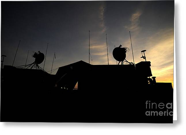 Command Center Greeting Cards - A Ground Control Station Which Operates Greeting Card by Stocktrek Images