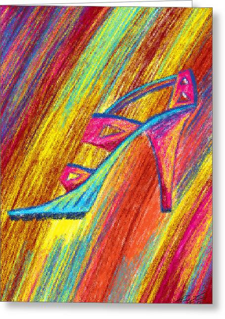 Recently Sold -  - Kenal Louis Greeting Cards - A High Heel Greeting Card by Kenal Louis