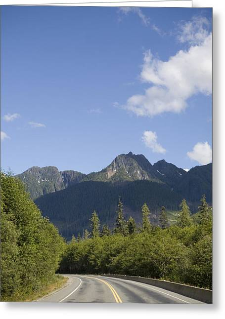 North Vancouver Greeting Cards - A Highway Winds Through The Mountains Greeting Card by Taylor S. Kennedy