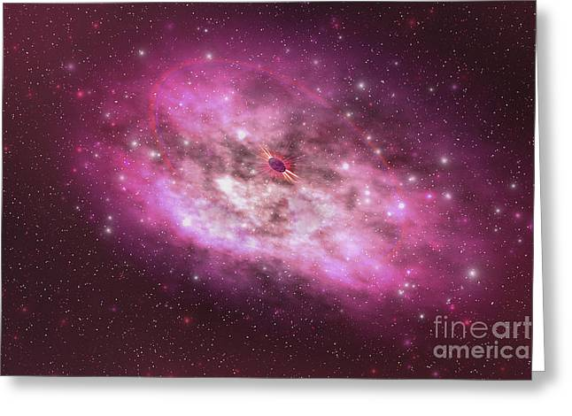 Star Formation Greeting Cards - A Huge Nebula Contains Millions Greeting Card by Corey Ford