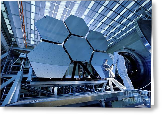 Experiment Greeting Cards - A James Webb Space Telescope Array Greeting Card by Stocktrek Images