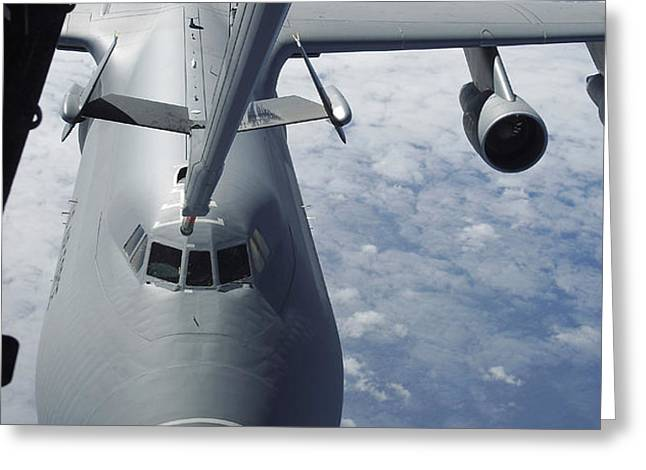 A Kc-10 Extender Prepares To Refuel Greeting Card by Stocktrek Images