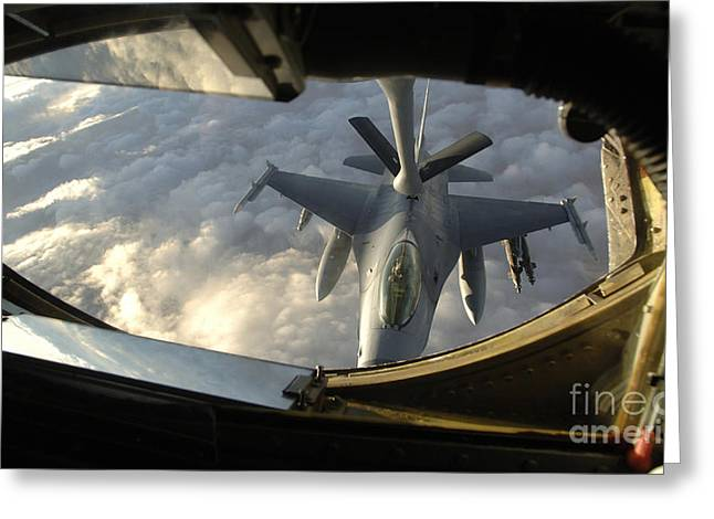 A Kc-135 Stratotanker Connects With An Greeting Card by Stocktrek Images
