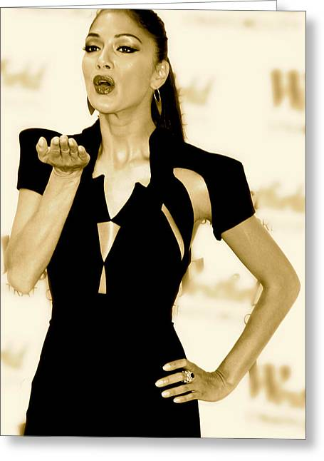 Nicole Scherzinger Greeting Cards - A Kiss For Whom Greeting Card by Jez C Self