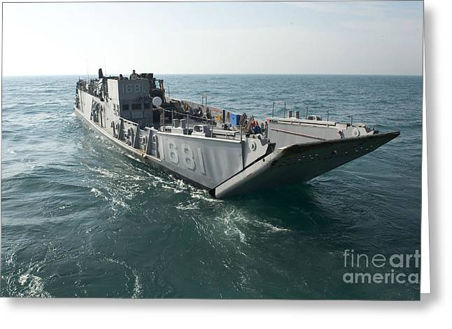 A Landing Craft Utility Transits Greeting Card by Stocktrek Images