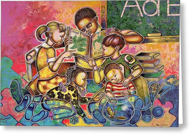 African-americans Greeting Cards - A Legacy Of Love And Learning Greeting Card by Larry Poncho Brown