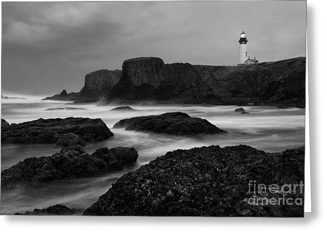 Turbulent Skies Photographs Greeting Cards - A light in the Storm Greeting Card by Keith Kapple