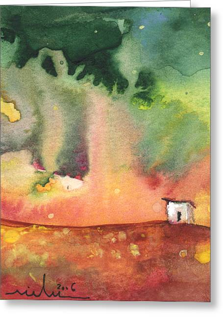 A Little House On Planet Goodaboom Greeting Card by Miki De Goodaboom
