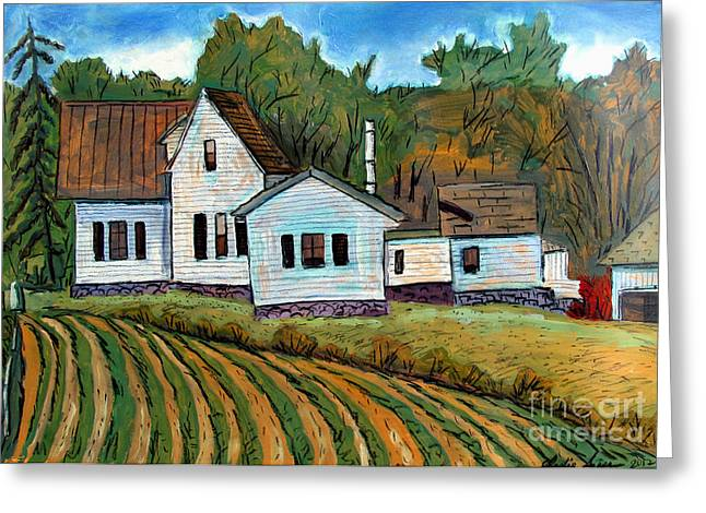 Indiana Landscapes Paintings Greeting Cards - A Little More Room Greeting Card by Charlie Spear