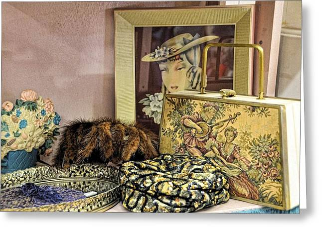 Needlepoint Greeting Cards - A Little Romance II Greeting Card by Jan Amiss Photography