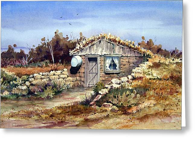 Dugout Greeting Cards - A Little South Of Wolf Creek Greeting Card by Sam Sidders