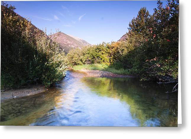 Heavenly Greeting Cards - A little stream in the Rocky Mountains Greeting Card by Ellie Teramoto