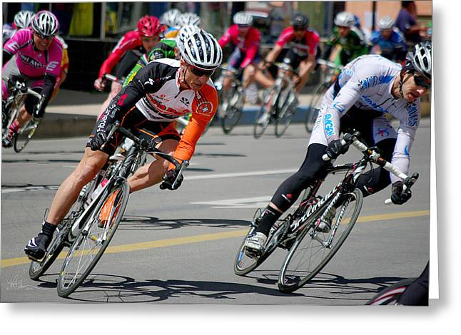 Tour Of The Gila Greeting Cards - A Little to the Left Greeting Card by Vicki Pelham