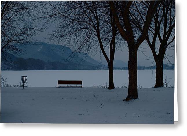 Monica Veraguth Greeting Cards - A Lonely Winter Greeting Card by Monica Veraguth