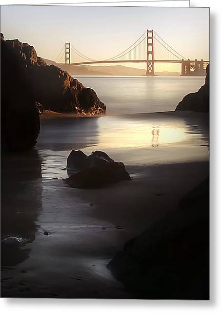 Golden Gate Greeting Cards - A Long Exposure of a Jellyfish Greeting Card by Sean Foster