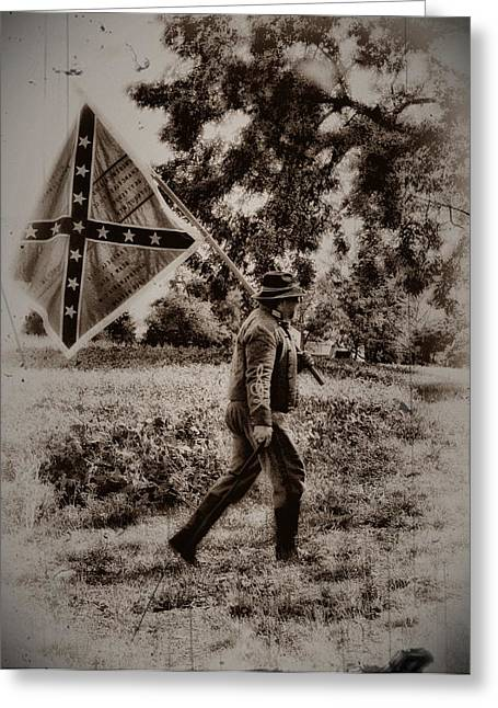 Confederate Digital Art Greeting Cards - A Long Walk Home Greeting Card by Bill Cannon
