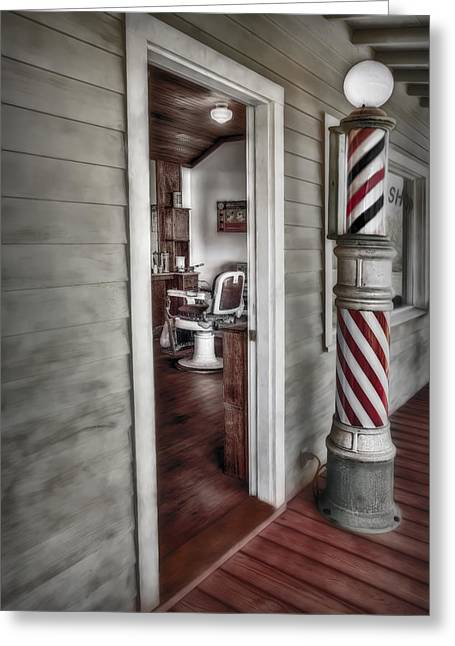 Groomer Art Greeting Cards - A Look Into The Past Greeting Card by Susan Candelario
