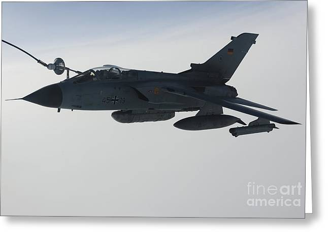 A Luftwaffe Tornado Ids Refueling Greeting Card by Gert Kromhout