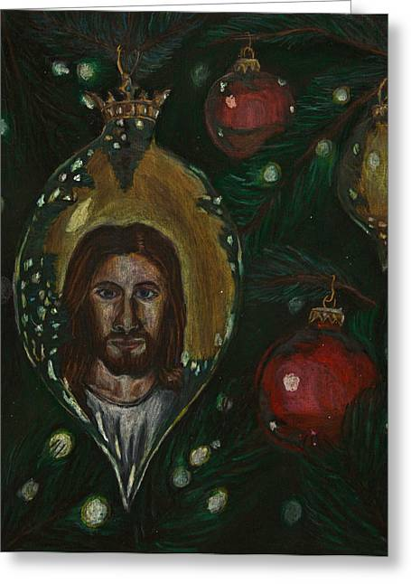 Jesus Pastels Greeting Cards - A Luminous Presence Greeting Card by Mark Lopez
