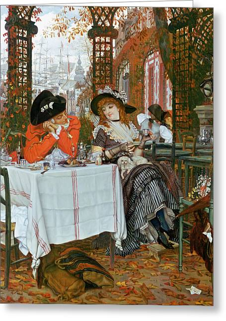 Prostitute Greeting Cards - A Luncheon Greeting Card by Tissot