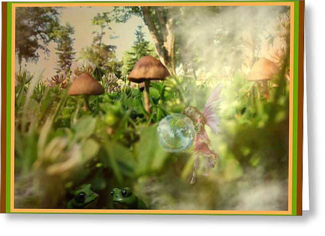 Ground Level Digital Greeting Cards - A Magical Place Greeting Card by Joyce Dickens