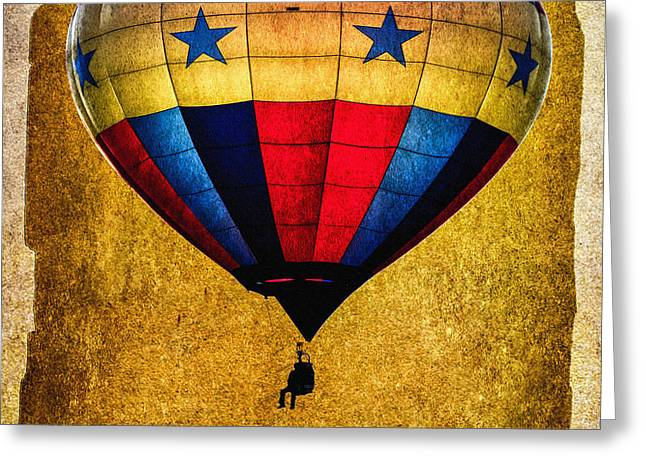 A Man and his balloon Greeting Card by Bob Orsillo