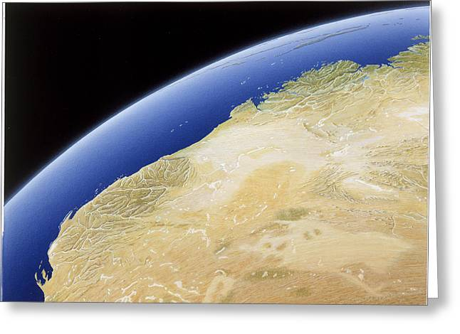A Map Of Western Australia Greeting Card by NG Maps