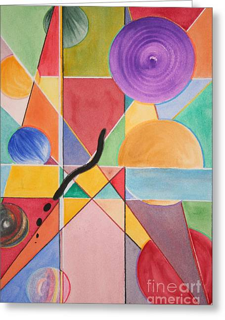 Sokolovich Paintings Greeting Cards - A Margin Of Error Greeting Card by Ann Sokolovich