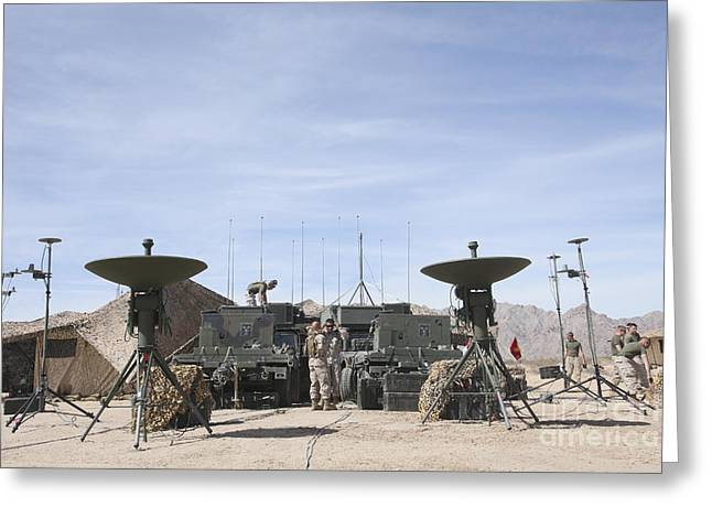 Command Center Greeting Cards - A Marine Unmanned Aerial Vehicle Greeting Card by Stocktrek Images