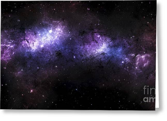 Starforming Greeting Cards - A Massive Nebula Covers A Huge Region Greeting Card by Justin Kelly