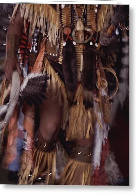 Powwow Greeting Cards - A Member Of The Blackfoot Tribe Greeting Card by Annie Griffiths