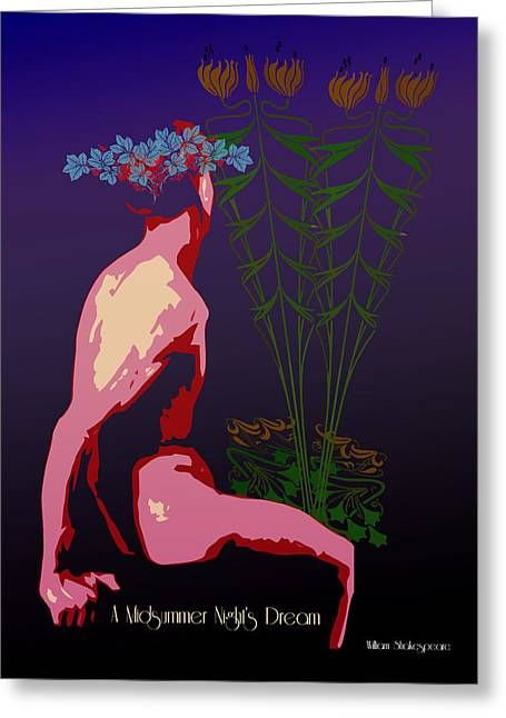 Tasteful Nude Greeting Cards - A Midsummer Nights Dream Greeting Card by Joaquin Abella